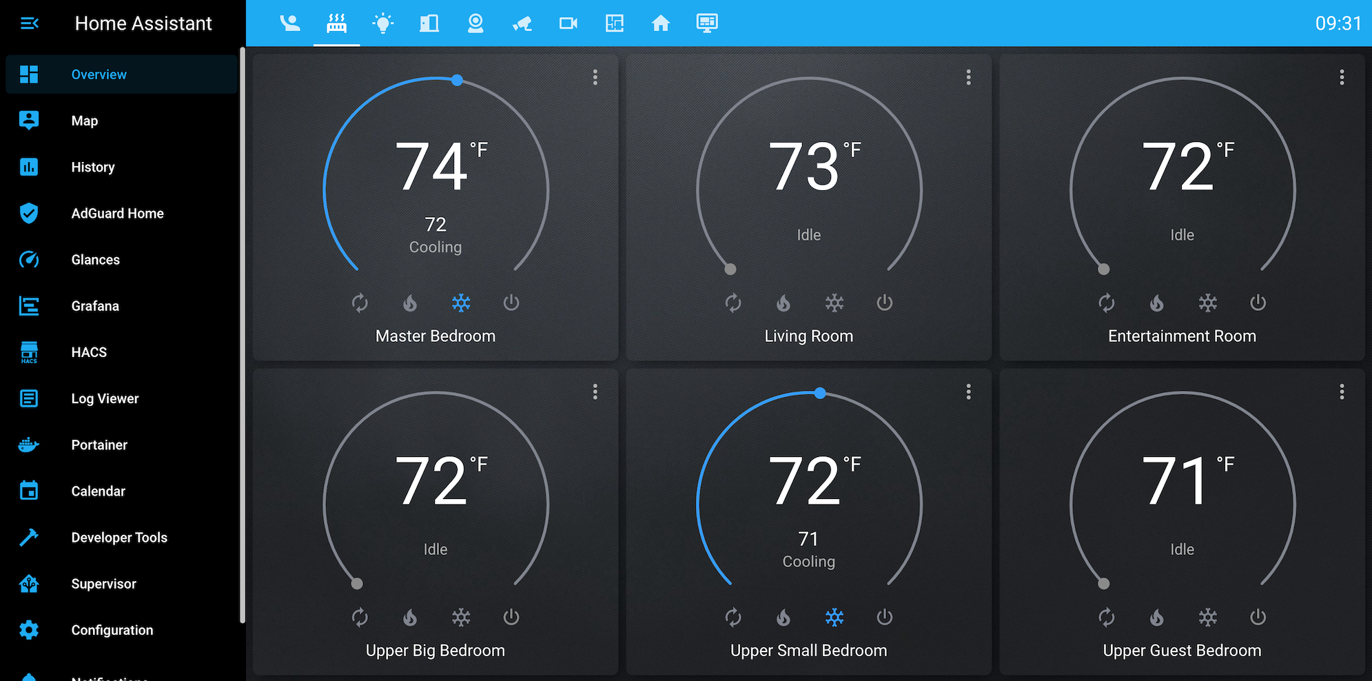 Home Assistant dashboard